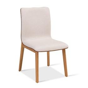Cadeira Wasserman em Madeira Maciça - Bege/Caramelo