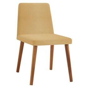 Cadeira Wheezy C/Pés em Madeira Maciça - Amarelo