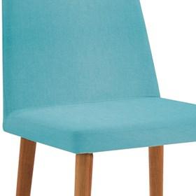 Cadeira Wheezy C/Pés em Madeira Maciça - Azul Turquesa