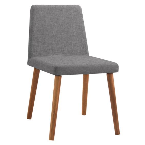Cadeira Wheezy C/Pés em Madeira Maciça - Cinza