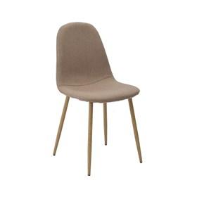Cadeira Willock em Linho C/Base Clara - Caqui