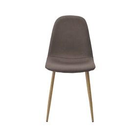 Cadeira Willock em Linho C/Base Clara - Marrom