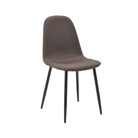 Cadeira Willock em Linho C/Base Preto - Caqui