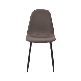 Cadeira Willock em Linho C/Base Preto - Marrom