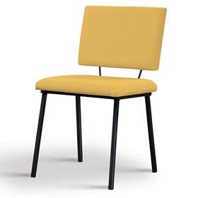 Cadeira Woody em Estofado - Amarelo