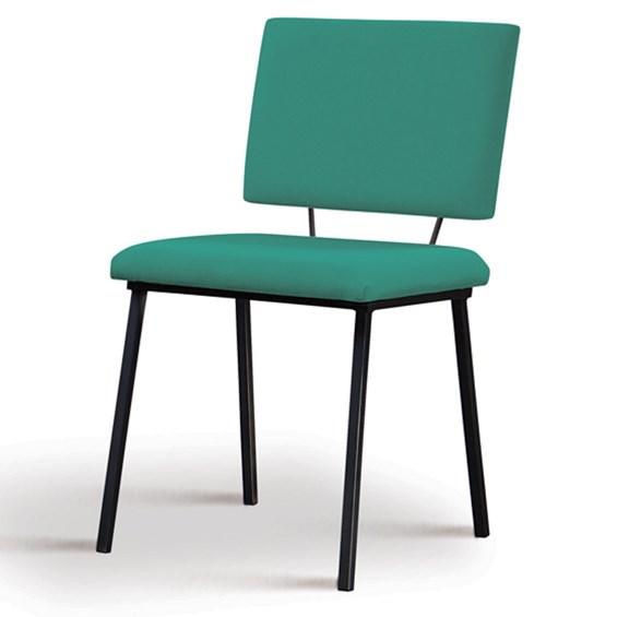 Cadeira Woody em Estofado - Azul Esverdeado