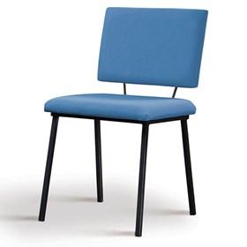 Cadeira Woody em Estofado - Azul Jeans