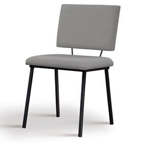 Cadeira Woody em Estofado - Cinza
