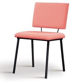 Cadeira Woody em Estofado - Coral