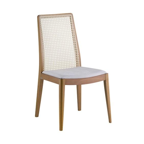 Cadeira Zaramont em Palha e Madeira Maciça - Sextavada