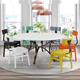 Conjunto de 2 Cadeiras Gothan em Madeira Maciça - Cinza