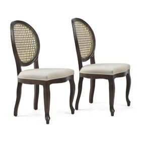 Conjunto de 2 Cadeiras Lustef em Madeira Maciça - Canela