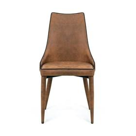 Conjunto de 4 Cadeiras Belmonte em Metal e PU - Caramelo
