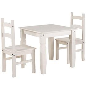 Conjunto de Mesa + 2 Cadeiras Wismar em Madeira Maciça - Linha Lith Wismar
