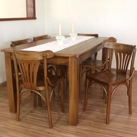 Conjunto de Mesa Norwich C/6 Cadeiras em Madeira Maciça - Linha Luthemberg