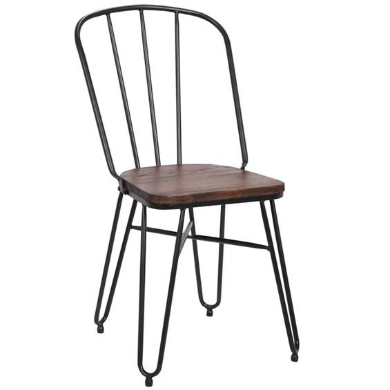 Conjunto Mesa Tullamore C/4 Cadeiras em Metal e Madeira