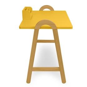 Escrivaninha Parbe em Madeira Maciça - Amarelo