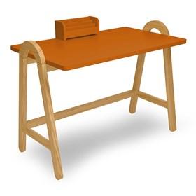 Escrivaninha Parbe em Madeira Maciça - Laranja