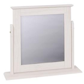 Espelho de Mesa Wismar Branco em Madeira Maciça - Linha Lith Wismar