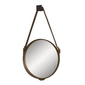 Espelho de Parede 40cm Celtics com Cinto em Couro