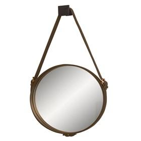 Espelho de Parede 60cm Celtics com Cinto em Couro