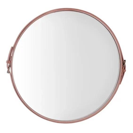 Espelho de Parede Barrichelle em Couro - Terracota