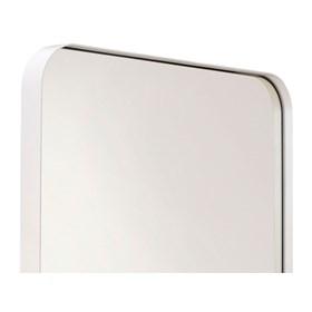 Espelho de Parede Cancún C/Moldura em Aço Carbono - Branco