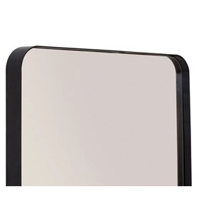 Espelho de Parede Cancún C/Moldura em Aço Carbono - Preto