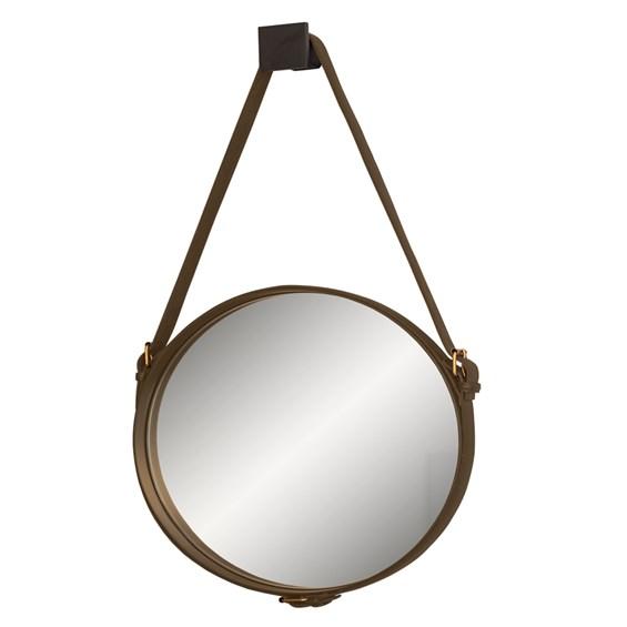Espelho de Parede Celtics C/Cinto em Couro - Marrom