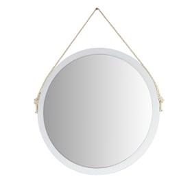 Espelho de Parede Chandler C/ Corda 50 cm - Branco