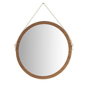 Espelho de Parede Chandler C/ Corda 50 cm - Freijó