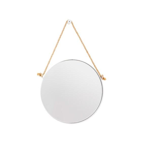Espelho de Parede Redondo Nohai em Aço Carbono