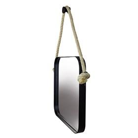 Espelho Quadrado Nohai 40cm em Aço Carbono Pintado