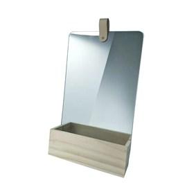 Espelho Retangular Weilu em Madeira