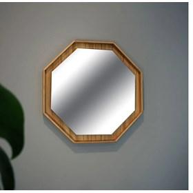Espelho Shape Oct Cinamomo em Madeira Laminada