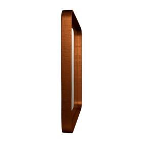 Espelho Winchester Quadrado em Moldura Metalizada - Aço Corten