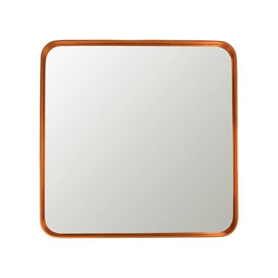 Espelho Winchester Quadrado em Moldura Metalizada - Cobre
