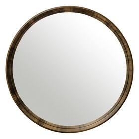 Espelho Winchester Redondo em Moldura de Madeira