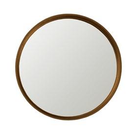 Espelho Winchester Redondo em Moldura Metalizada - Aço Corten