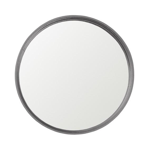 Espelho Winchester Redondo em Moldura Metalizada - Alumínio