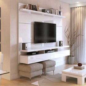 """Home Suspenso City 160 cm P/ TV's Até 60"""" - Branco Gloss"""