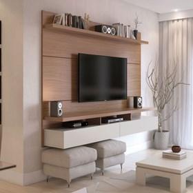 """Home Suspenso City 160 cm P/ TV's Até 60"""" - Natural/Off-white"""