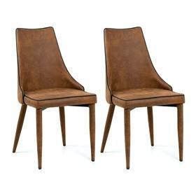 Kit 2 Cadeiras Joyce Estrutura de Metal Estilo Rústico