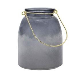 Lanterna Dlomer em Ferro e Vidro - Cinza