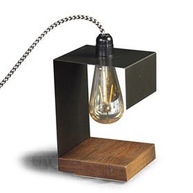 Luminária de Mesa Dijgon em Madeira Maciça