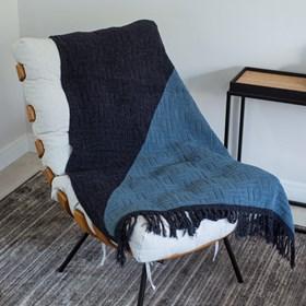 Manta para Sofá Tricot Meredith 150x90cm - Indico