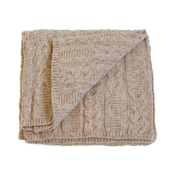 Manta para Sofá Tricot Ravel 150x90cm - Papiro