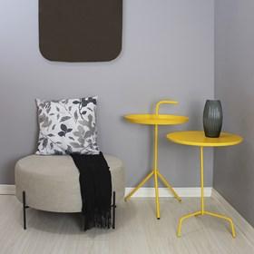 Mesa de Apoio Lauren em Aço Carbono - Amarelo