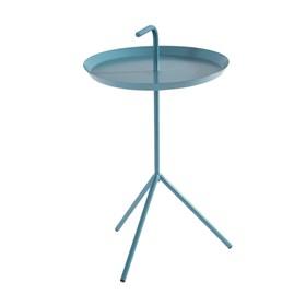Mesa de Apoio Lauren em Aço Carbono - Azul Turquesa