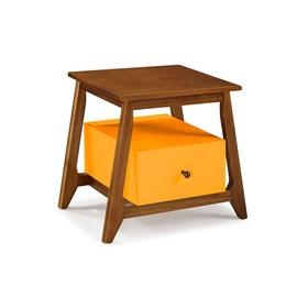 Mesa de Cabeceira Nasur em Madeira Maciça C/1 Gaveta - Amarelo